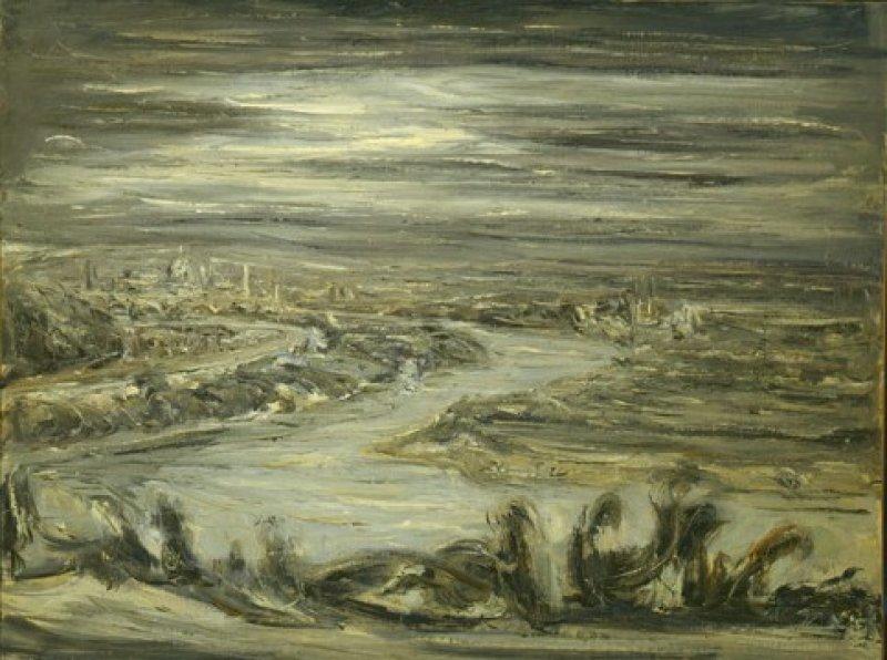 Paesaggio Tevere anni '40