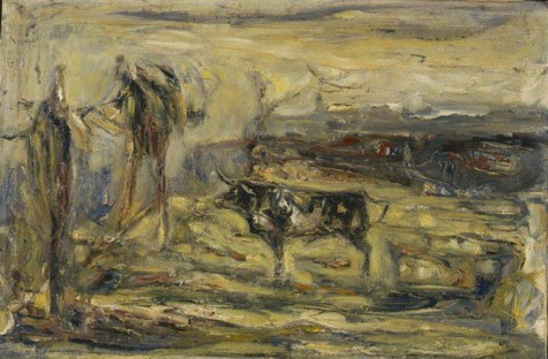 Paesaggio con toro  1946